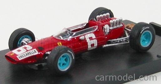 BRUMM R296 Echelle 1/43  FERRARI F1  158 N 6 GP ITALIA 1965 N. VACCARELLA RED