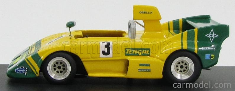 BEEBOP BB134 Scale 1/43  OSELLA ABARTH PA-02 SPIDER N 3 5th PERGUSA 1974 YELLOW GREEN