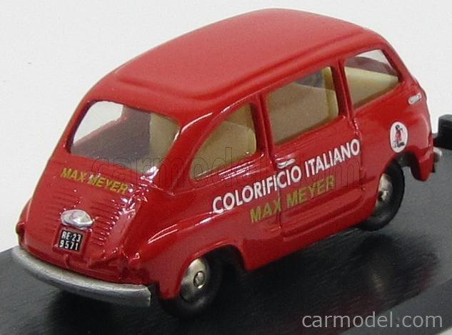 MERCURY SCOTTOY SCOTT02 Echelle 1/45  FIAT 600 MULTIPLA 1956 - COLORIFICIO ITALIANO MAX MAYER RED