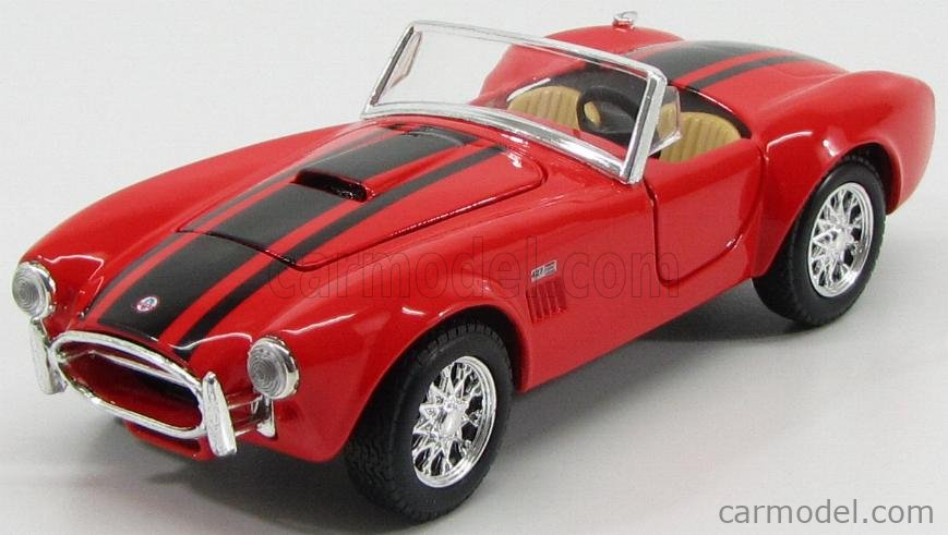 MAISTO 31276R Echelle 1/24  AC COBRA SHELBY COBRA 427 S/C SPIDER 1965 RED