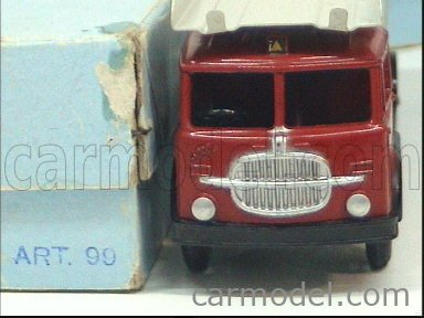 MERCURY-ITALY 99-100 Scale 1/45  FIAT 682 CAR TRANSPORTER + TRAILER RED GREY