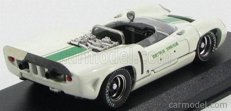 BEST-MODEL 9553 Scale 1/43  LOLA T70 SPIDER N 1 WINNER MALLORY PARK 1966 D.HULME WHITE