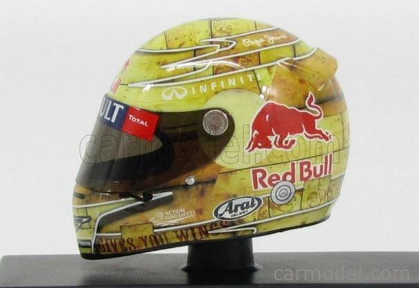MINICHAMPS 381120101 Echelle 1/8  ARAI HELMET F1  RED BULL 2nd GP USA AUSTIN 2012 WORLD CHAMPION SEBASTIAN VETTEL VARIUOS
