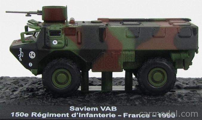 DIE CAST TANK  SAVIEM VAB 150e REGIMENT FRANCE 1990 1//72 #36#