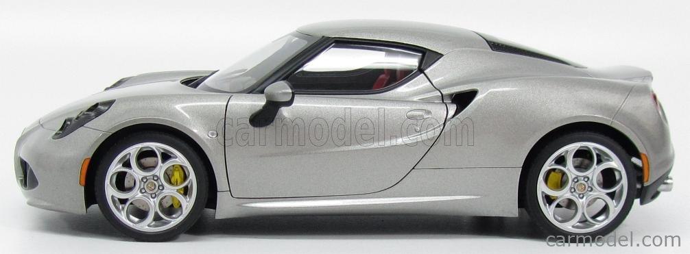AUTOART 70187 Scale 1/18  ALFA ROMEO 4C 2013 GREY MET