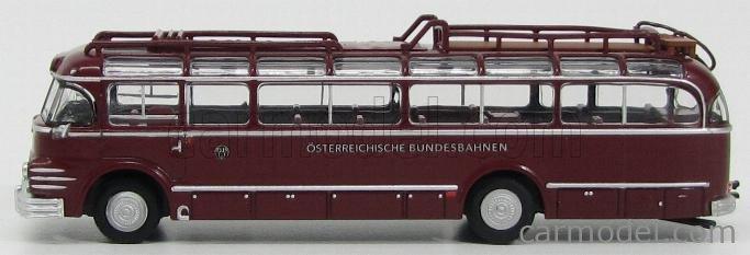 BREKINA PLAST BRE58060 Masstab: 1/87  SAURER 5GVF-U AUTOBUS OSTERREICHISCHE BUNDESBAHNEN 1951 BORDEAUX