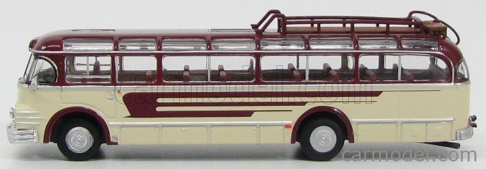 BREKINA PLAST BRE58062 Scala 1/87  SAURER 5GVF-U AUTOBUS 1951 CREAM RED