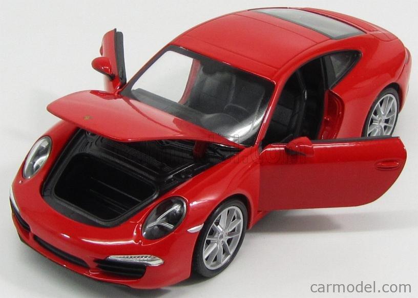 WELLY WE24040R Масштаб 1/24  PORSCHE 911 991 CARRERA S 2013 RED