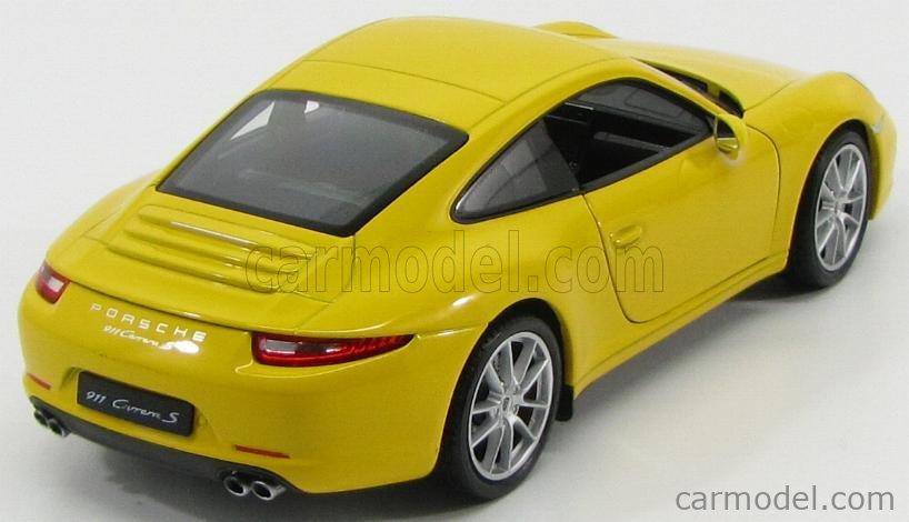 WELLY WE24040Y Масштаб 1/24  PORSCHE 911 991 CARRERA S 2013 YELLOW