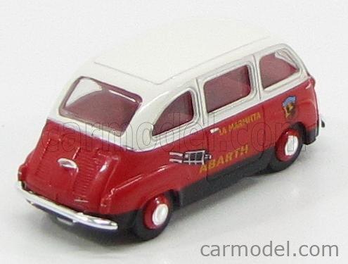 BREKINA PLAST BRE22468 Scale 1/87  FIAT 600 MULTIPLA I SERIES PUBLICITAIRE LA MARMITTA ABARTH 1956 RED WHITE