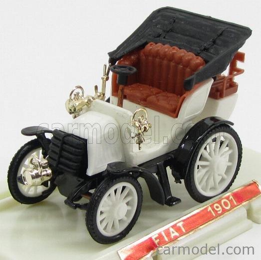 SAFIR 14-2 Scale 1/43  FIAT 8HP CAPOTE OPEN 1901 WHITE BLACK