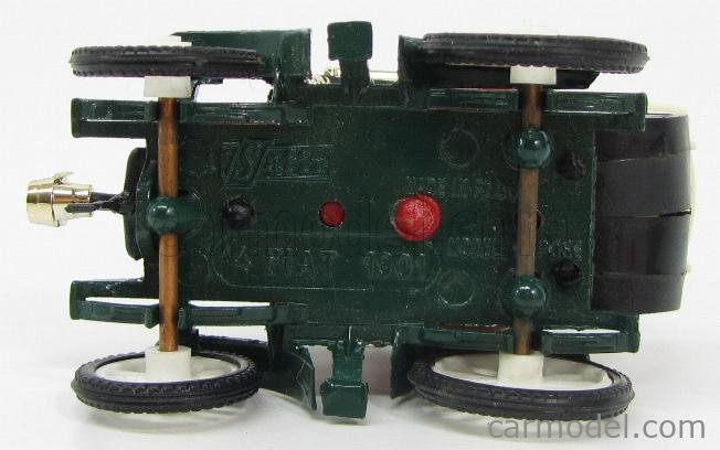 SAFIR 14-1 Scale 1/43  FIAT 8HP CAPOTE CLOSED 1901 RED GREEN
