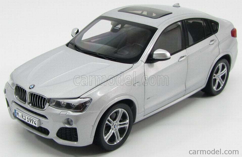 PARAGON-MODELS 80432352457 Scale 1/18  BMW X4 XDRIVE 3.5d (F83) 2014 GLACIER SILVER