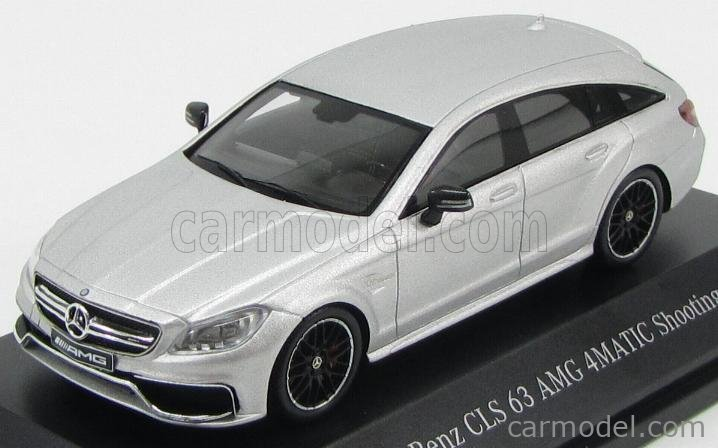 SPARK-MODEL B66960366 Scale 1/43  MERCEDES BENZ CLS-CLASS CLS63 AMG SHOOTING BRAKE 4MATIC 2014 IRIDIUM SILVER MAGNO