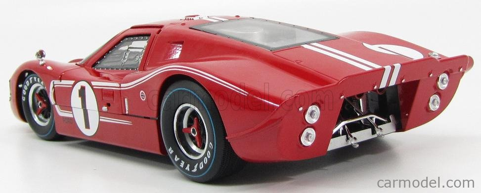 SHELBY-COLLECTIBLES SHELBY423 Scale 1/18  FORD USA GT40 MKIV 7.0L V8 TEAM SHELBY AMERICAN INC. N 1 WINNER 24h LE MANS 1967 A.J.FOYT - D.GURNEY RED WHITE