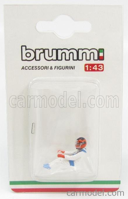 BRUMM CH01B-UPD Echelle 1/43  FIGURES GILLES VILLENEUVE FOR FERRARI F1 126C - 126CK 1981 WHITE