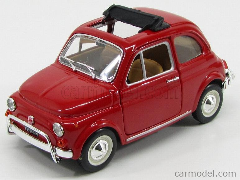 BURAGO BU22099R Echelle 1/24  FIAT 500L OPEN ROOF 1968 RED