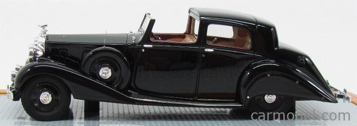 ILARIO-MODEL IL43052 Echelle 1/43  ROLLS ROYCE PIII 3CP130 SEDANCA DE VILLE HOOPER SEMICONVERTIBLE 1937 BLACK