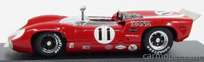 BEST-MODEL 9587 Scale 1/43  LOLA T70 SPIDER N 11 BRIDGEHAMPTON 1967 L.MOTSCHEKER RED WHITE