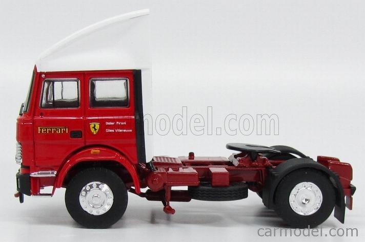 BRUMM OLDCARS T05B Scala 1/43  IVECO FIAT 190 TRACTOR TRUCK F1 SCUDERIA FERRARI CAR TRANSPORTER 1981 RED WHITE