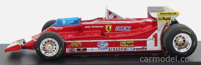 BRUMM R576 Echelle 1/43  FERRARI F1  312T5 N 1 MONACO GP 1980 J.SCHECKTER RED