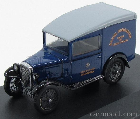 OXFORD-MODELS OX43ASV005 Scala 1/43  AUSTIN SEVEN RN VAN PUBLICITAIRE DANIEL DONCASTER 1923 BLUE GREY