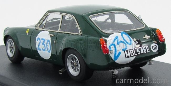 PINKO PI269 Scala 1/43  MG B GT N 230 TARGA FLORIO 1967 BRITISH RACING GREEN