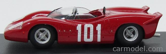 PINKO PI195 Masstab: 1/43  ABARTH 2000 SPORT N 101 INNSBRUCK 1968 RED
