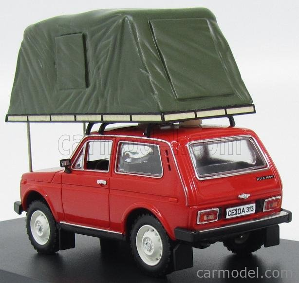 IST-MODELS IST295MR Scale 1/43  LADA NIVA WITH ROOF TENT 1981 RED