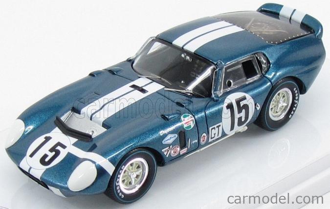 TRUESCALE TSM154354 Echelle 1/43  AC COBRA SHELBY DAYTONA COUPE CSX2299 N 15 WINNER GT CLASS 12h SEBRING 1965 BONDURANT - SCHLESSER BLUE WHITE