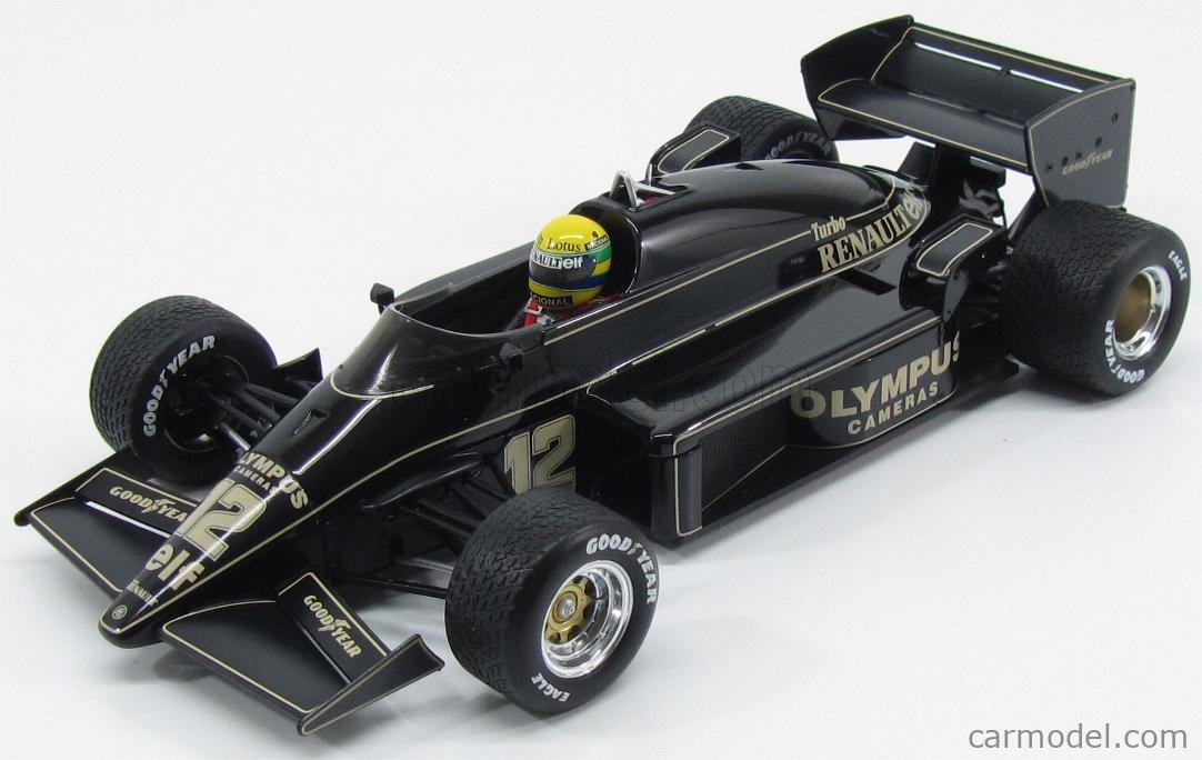 PREMIUM-X SEN18001 Scale 1/18  LOTUS F1  97T RENAULT TURBO N 12 WINNER PORTUGAL GP 1985 A.SENNA - WITHOUT DECALS BLACK GOLD