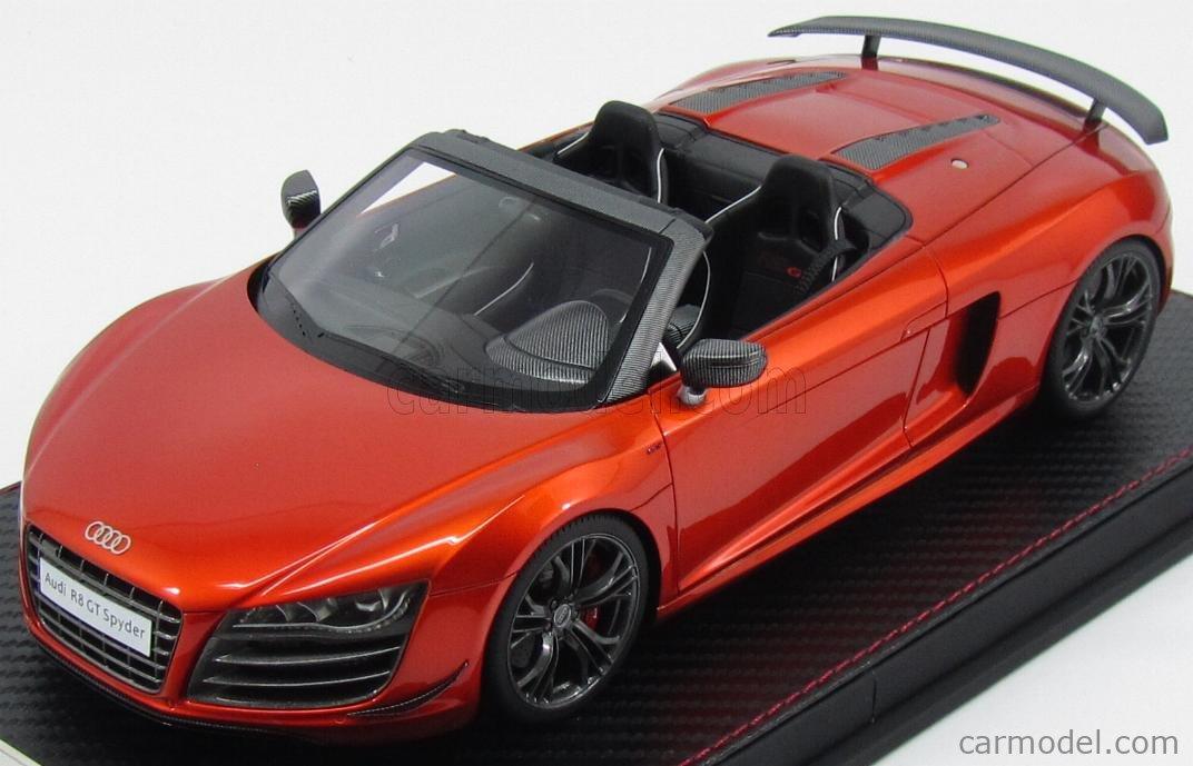 Fronti Art F036 12 Scale 1 18 Audi R8 Gt Spider 5 2 V10 Fsi 2014 Samoa Orange Orange Met