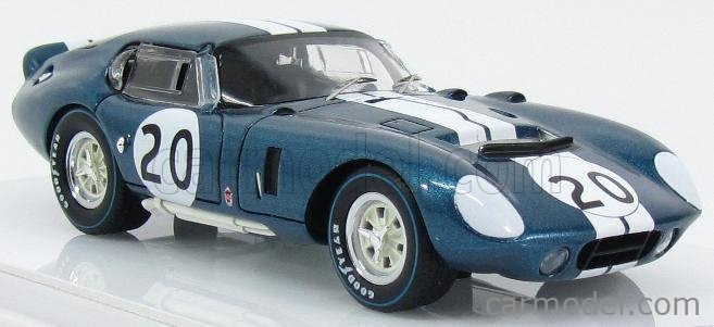 TRUESCALE TSM154357 Echelle 1/43  AC COBRA SHELBY DAYTONA COUPE CSX2601 TEAM ALAN MANN RACING N 20 WINNER GT CLASS 500km SPA 1965 B.BONDURANT A.GRANT BLUE WHITE
