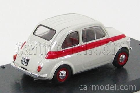 BRUMM R361 Echelle 1/43  FIAT 500 NUOVA SPORT TETTO METALLICO - METAL TOP 1957 LIGHT GREY