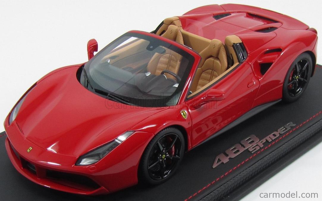 Bbr Models P18120b Masstab 1 18 Ferrari 488 Spider 2015 Rosso Corsa