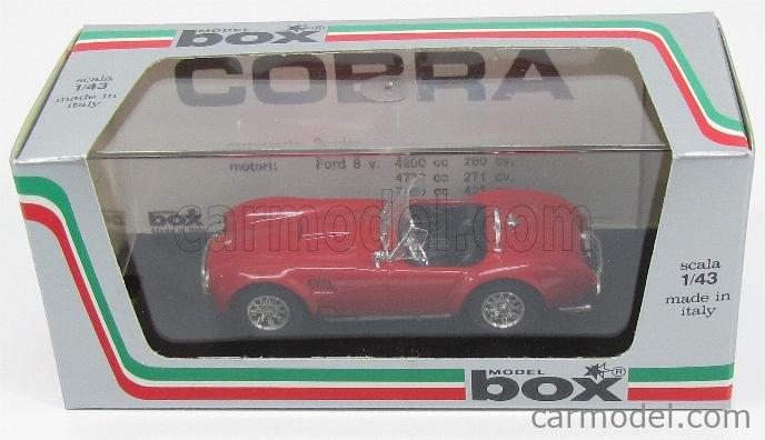 BOX-MODEL 8410 Echelle 1/43  AC COBRA SHELBY COBRA SPIDER 1962  RED