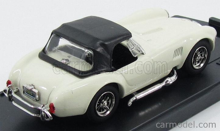 BOX-MODEL 8412 Echelle 1/43  AC COBRA SHELBY COBRA  SPIDER SOFT-TOP 1962 WHITE