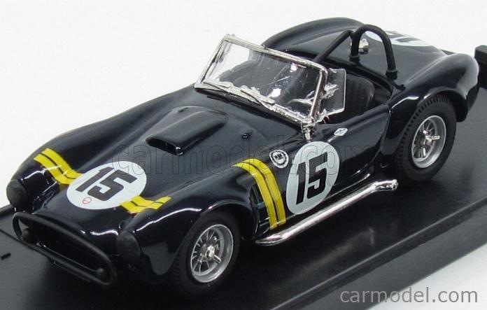 BOX-MODEL 8414 Echelle 1/43  AC COBRA SHELBY COBRA N 15 SEBRING 1963 BLACK