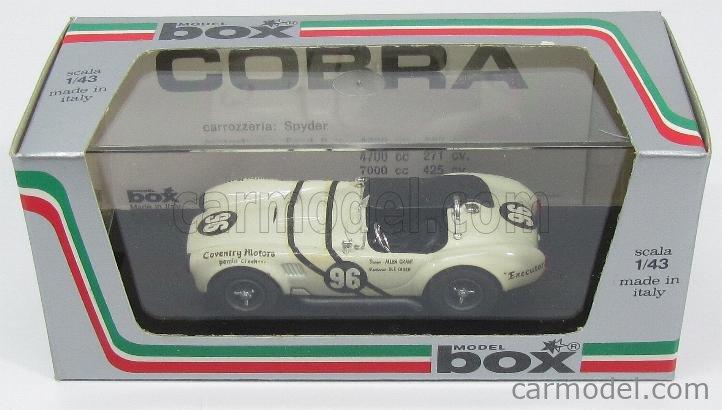 BOX-MODEL 8421 Echelle 1/43  AC COBRA SHELBY COBRA N 96 LAGUNA SECA 1964  WHITE