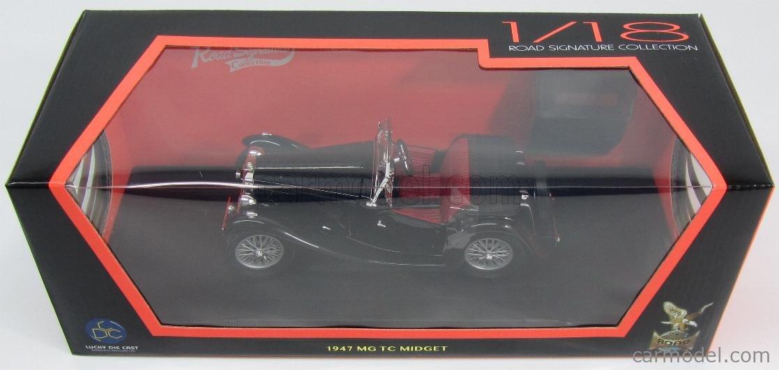 LUCKY-DIECAST LDC92468BK Scale 1/18  MG TC MIDGET SPIDER 1947 BLACK