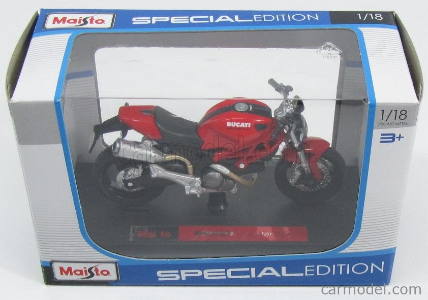 MAISTO 08056R Scale 1/18  DUCATI MONSTER 696 2010 RED BLACK