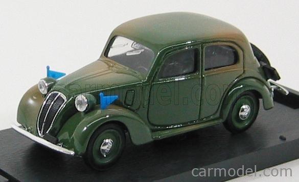 BRUMM R034 Echelle 1/43  FIAT 508C 1100  BERLINA FORZE ARMATE 1937-39 MILITARY GREEN