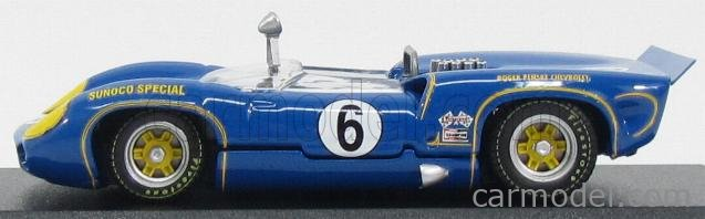 BEST-MODEL 9621 Scale 1/43  LOLA T70 MKII SPIDER N 6 WINNER MOSPORT CAN-AM 1966 M.DONOHUE BLUE
