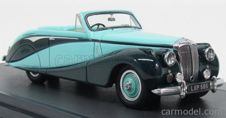 MATRIX SCALE MODELS MX40402-041 Scale 1/43  DAIMLER DB18 EMPRESS CONVERTIBLE HOOPER CABRIOLET 1951 2 TONE GREEN