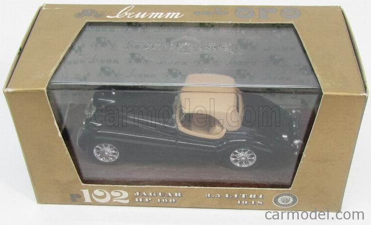 BRUMM R102-OLD Scale 1/43  JAGUAR XK 120 3.5 LITRI 1948 CLOSED BLACK