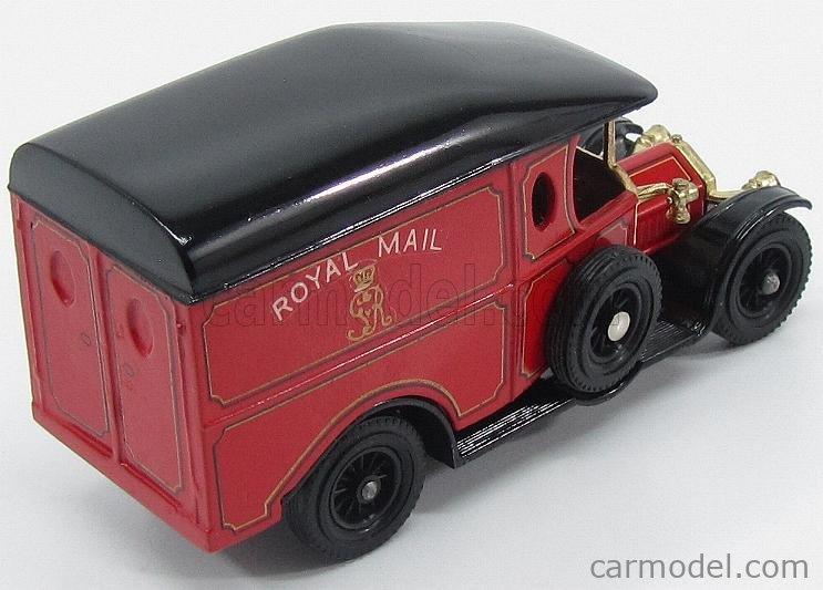 MATCHBOX Y13-PROM Echelle 1/43  CROSSLEY VAN ROYAL MAIL 1918 RED BLACK