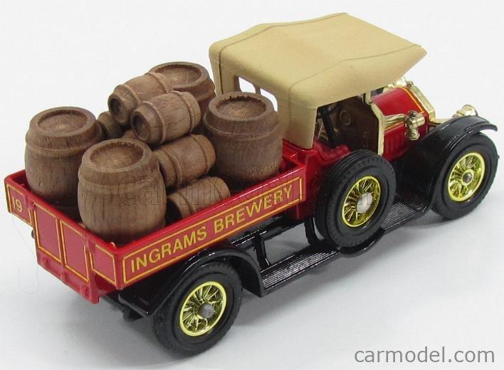 MATCHBOX Y13 Scale 1/43  CROSSLEY PICK-UP INGRAMS BREWERY 1918 RED BEIGE