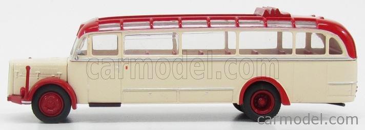 BREKINA PLAST BRE58076 Scale 1/87  SAURER BT4500 AUTOBUS 1954 CREAM RED