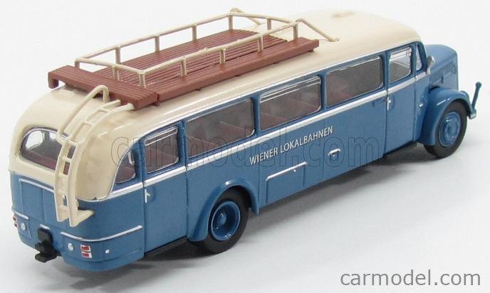 BREKINA PLAST BRE58073 Echelle 1/87  SAURER BT4500 AUTOBUS WIENER LOKALBAHNEN 1954 LIGHT BLUE IVORY