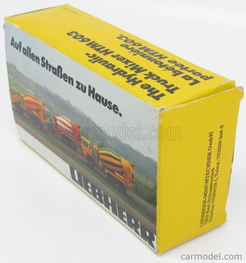 CONRAD AX34432 Masstab: 1/50  LIEBHERR HTM603 TRUCK HYDRAULIC DRIVING MIXER 1986 YELLOW